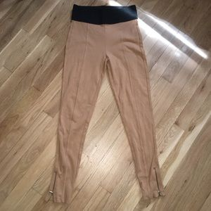 Zara nude camel leggings